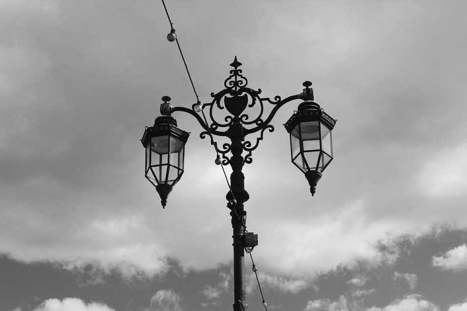 Gothic like lamp in around Southsea Beach, Portsmouth, UK