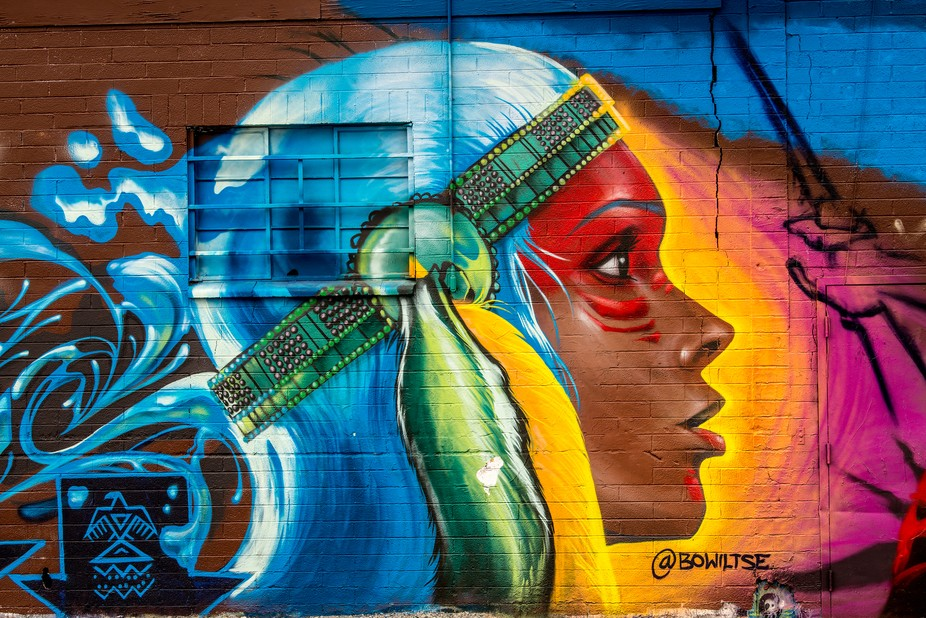 One of the last perfect and fantastic house wall griffitis in Downtown Las Vegas. 50 % of the so ...