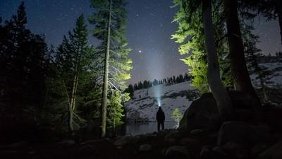 Midnight at Jennie Lake