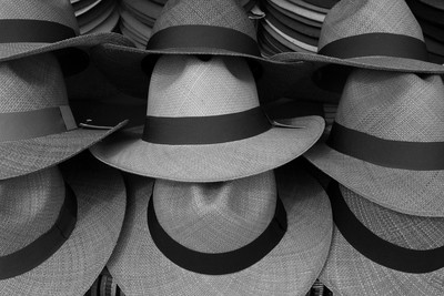 Panama Hats at the Market