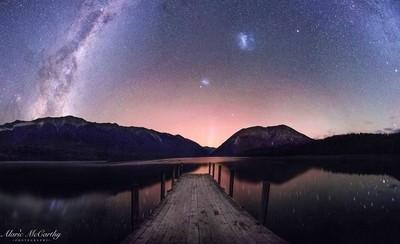 Night skies over Lake Rotoiti