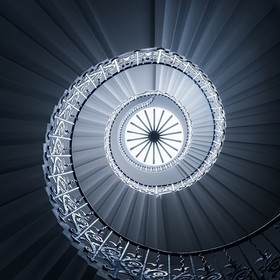The Tulip Staircase inside the Queen's House in Greenwich is part of the former royal residence that was built by Inigo Jones in the early 1...