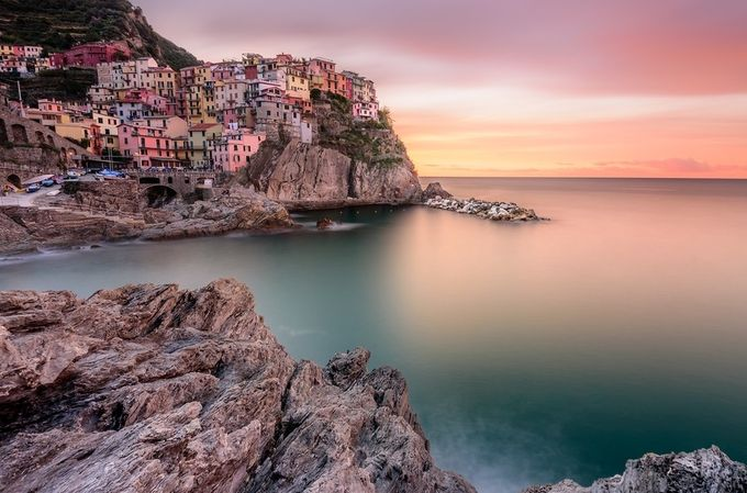 Alba a Manarola by tizianamudu - This Is Europe Photo Contest