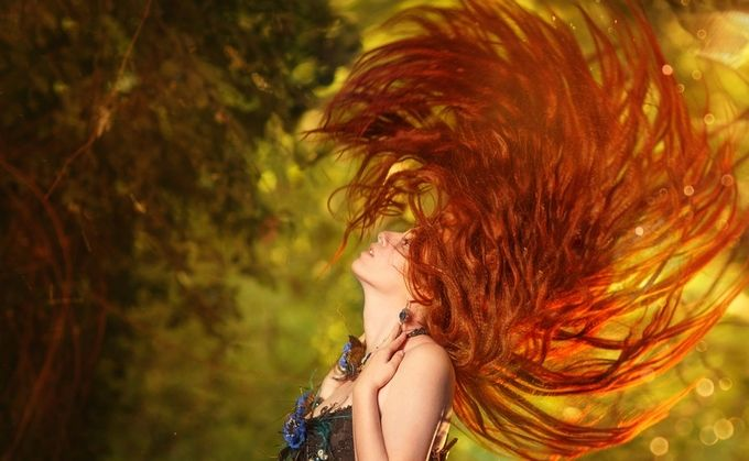 Refd Sun by Loza - Red Hair Photo Contest