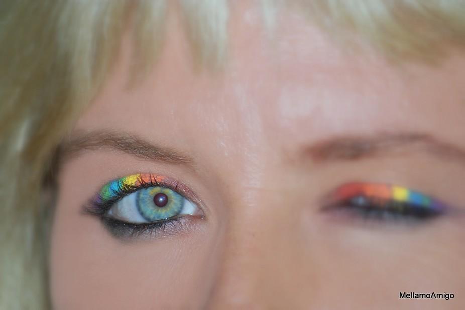 eye below the rainbow