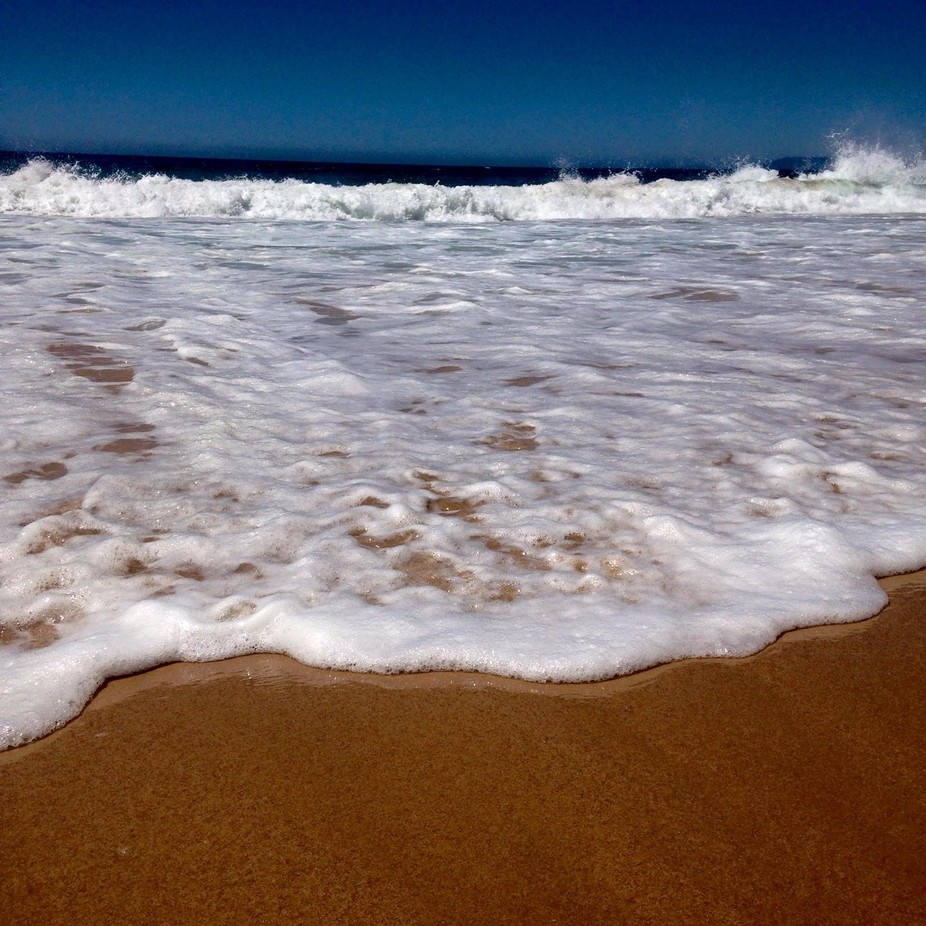 A snapshot of Meco's beach in Portugal.