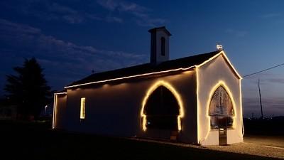 San Pelagio at night