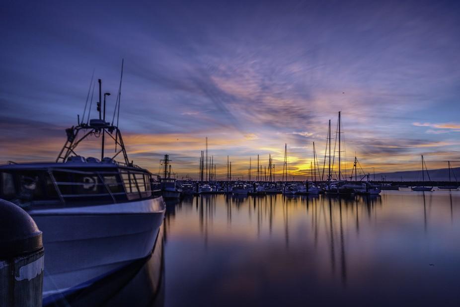 Taken early morning at a marina