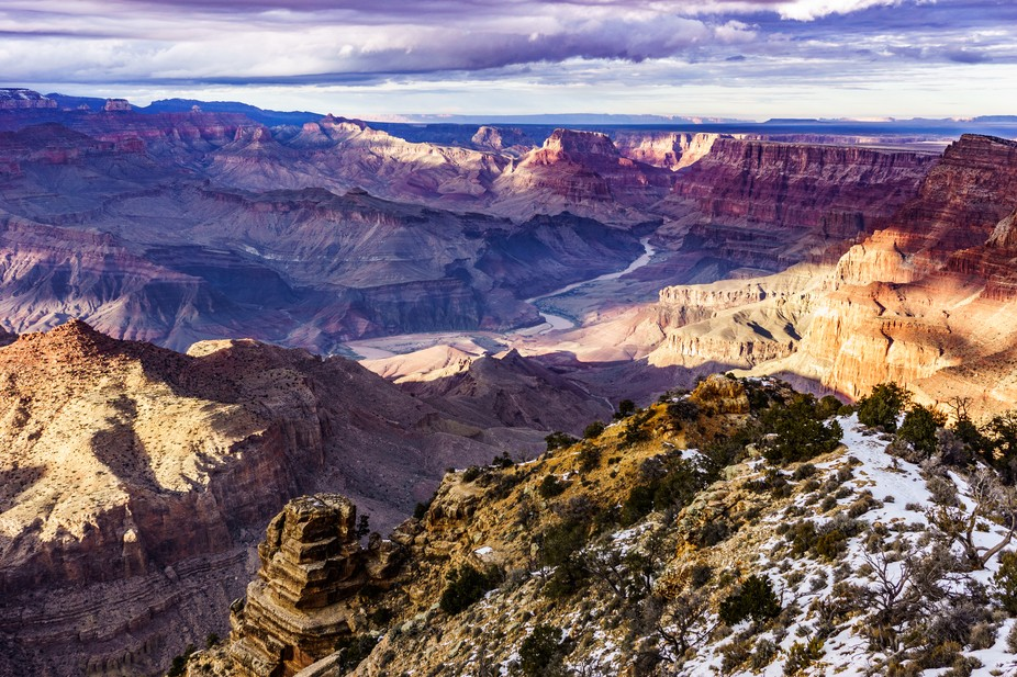 The Colorado River from Desert View at the Grand Canyon