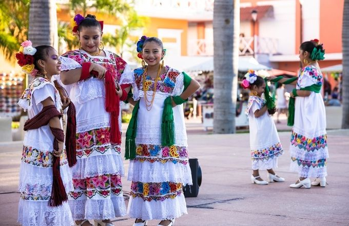 These beautiful young people were preparing for a performance in the Centro in Cozumel, Mx.