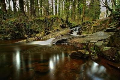 Swirling Waterfall