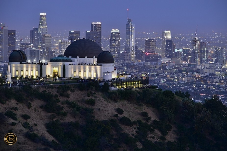Griffith Observatory, with a sweeping view of the Los Angeles skyline.