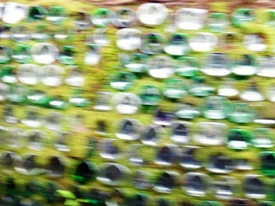 Green Bottle Abstract.