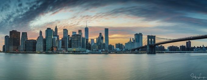 Sunset over Manhattan by StefanLueger - Fish Eye And Wide Angle Photo Contest