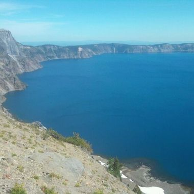 Crater Lake in oregon, feels like you're on the top of another world.