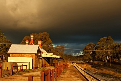 Storm clouds over Capertee station.