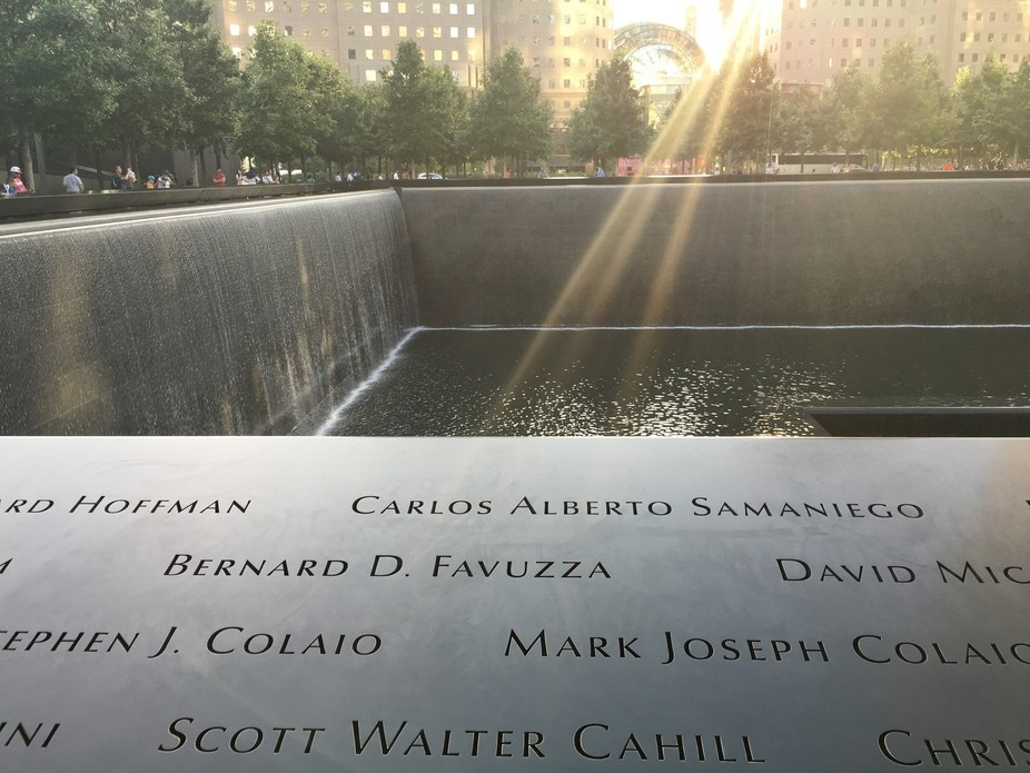 First time to the Twin Towers 9/11 monument  An incredible feeling of loss
