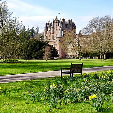 A new angle on Glamis Castle looking across from The side lawn !