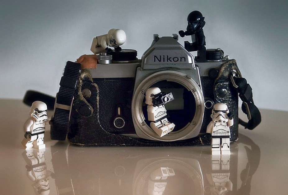 Troopers trying to fix my camera