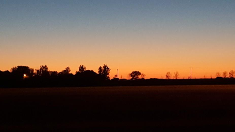 Sunset in Aberdeen SD