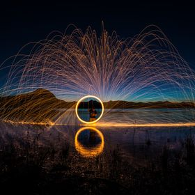 I have had a crack at the old steel wool spinning a few times..  In tunnels, under bridges usually where there is some water to reflect the steel.