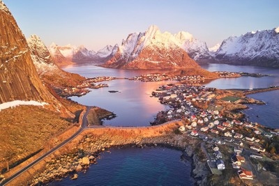The mountains of Lofoten isands