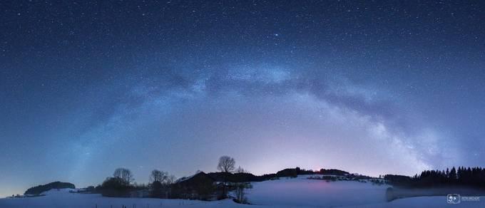 Winterwonderland in April by petrabischoff - Capture The Milky Way Photo Contest