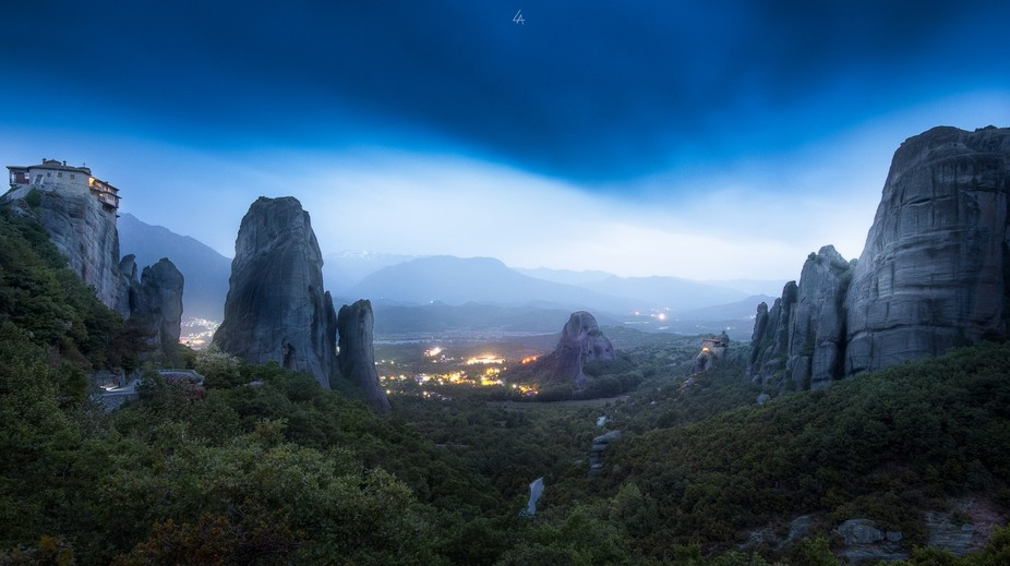"The Metéora literally ""middle of the sky"", ""suspended in the air&..."