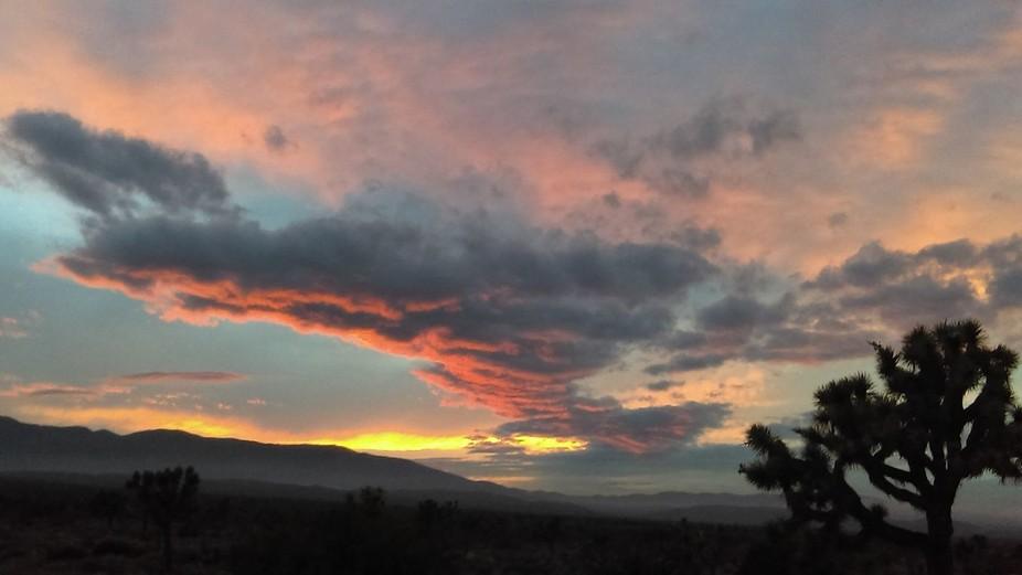 Llano , CA May sunset