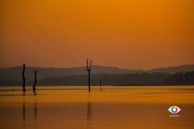 Sharavathi river and sunset