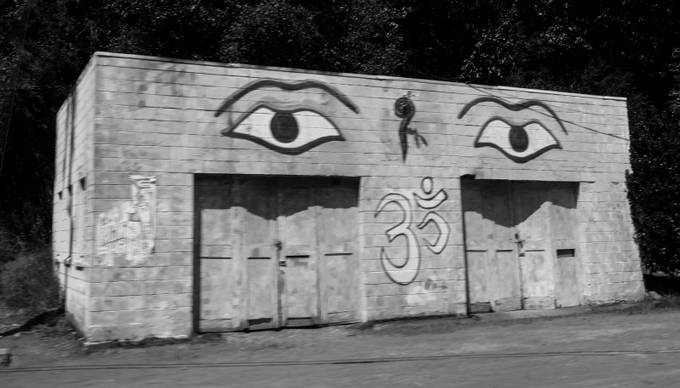 GARAGE GRAFFITI B&W by Paul_Joslin - Warehouses Photo Contest