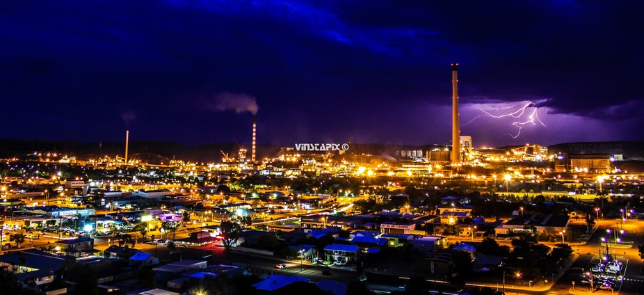 My home town in Outback Queensland Australia, Mount Isa. With storm clouds in the distance a luck...