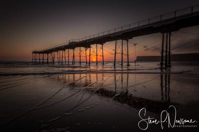 Saltburn Pier sunrise 1
