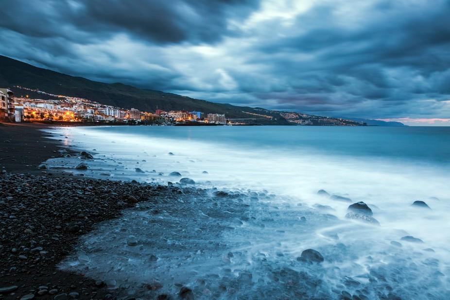 Dramatic morning in Candelaria.  Candelaria, Santa Cruz de Tenerife, Tenerife, Canary Islands, Sp...