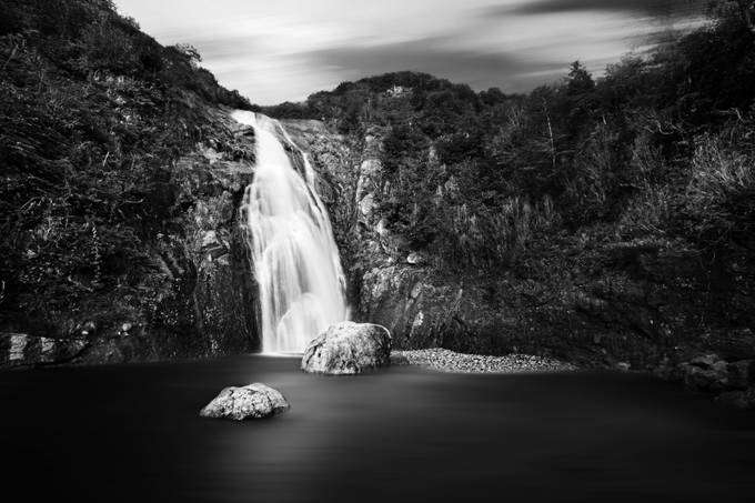 Waterfall in Turkey BW by adamduraj - Covers Photo Contest Vol 41