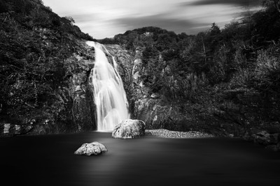 Waterfall in Turkey BW