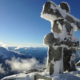 Taken in Whistler BC, at the top of the ski hill.
