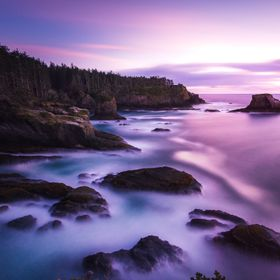 A 270 second exposure gave me this cool shot during the golden hour over Cape Flattery in Washington State!