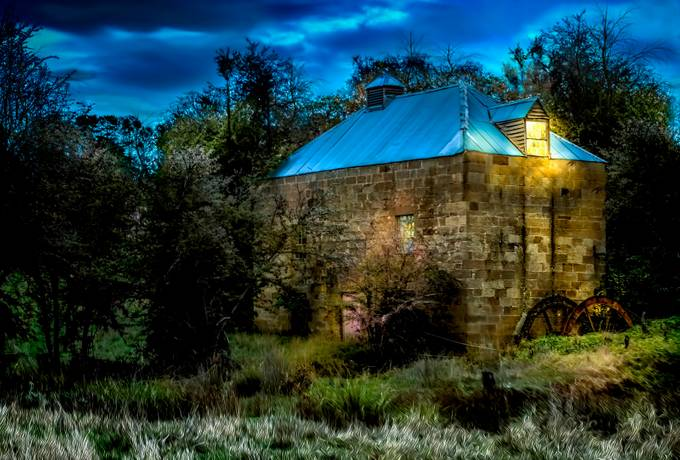 A disused local sandstone mill That I have added a bit of life back into with my imagination.