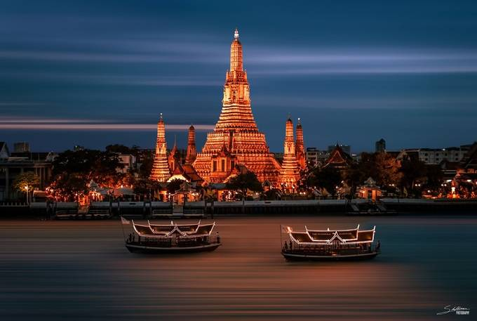 Wat Arun by bendikstalheim - City In The Night Photo Contest