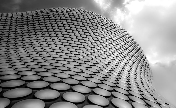 The Disc building by ncpcov - Patterns In Black And White Photo Contest