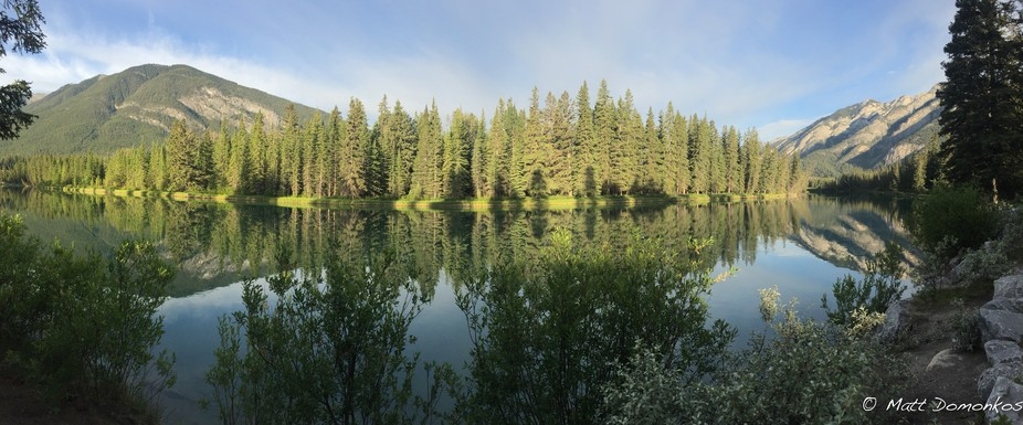Out on a morning run last summer in Banff.  Had to stop to capture this moment on the Bow river. ...