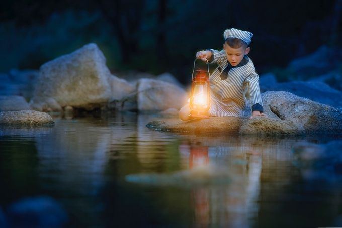Night in the Woods  by BKoesel - Kids And Water Photo Contest