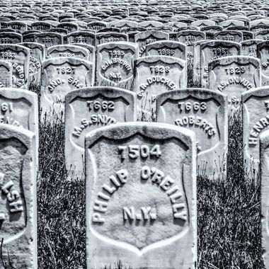 This is just a fraction of the Union graves in the Andersonville National Cemetery in Andersonville, Georgia.  Andersonville was the site of a Prisoner of War camp during the American Civil War.  The camp was in existence for just over a year and housed over 45,000 Union prisoners.  Of these, some 13,000 died.