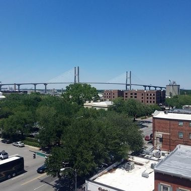 View from the Broughton St Parking Deck Savannah, GA