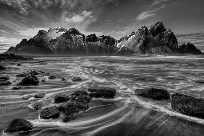 Vestrahorn by Steve_Renter - Black And White Mountain Peaks Photo Contest