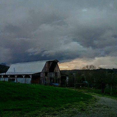 Stormy Evening on the Farm