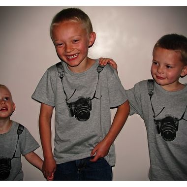 My three boys and photographers in the making.