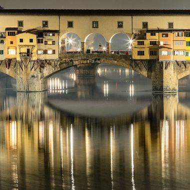 "The famous Ponte Vecchio or ""Old Bridge"" in Italian is a must stop location for any visitor to Florence, Italy.  There is just something special about this beautiful bridge."