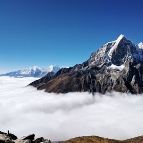 We had trekked up to Nangkartshang Peak (Nangkart Tshang) for our acclimatization day - 16676 ft / 5083 m. The clouds were creeping low in the Ch...